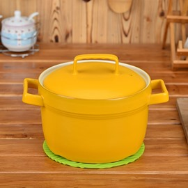 Multicolor Ceramic Cookware With Lid Handmade Heat-resisting 5.8L Stockpot