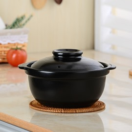 Black Ceramic Homeware High Temperature Resistance 1.5L Stockpot