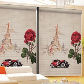 Typical Romantic Paris Printing 3D Shangri-La Blinds & Roller Shades