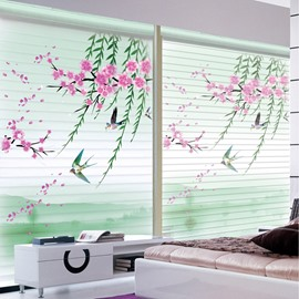 Beauty of Spring Printing Polyester Shangri-La Blind & Roller Shades