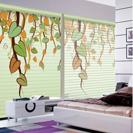 Cute Stick Figures Vine Printing 3D Shangri-La Blinds & Roller Shades