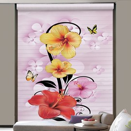 Clip Art Colored Flowers Printing 3D Shangri-La Blinds & Roller Shades