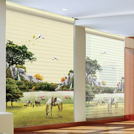 Peaceful Country Life Printing Polyester Shangri-La Blind & Roller Shades