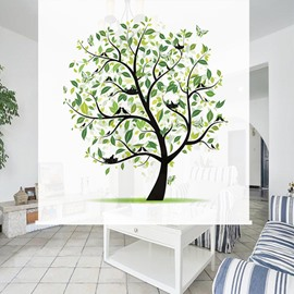 Concise Hand Painted? Tree 3D Printing Blackout Roller Shades