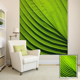 Exaggerated Green Leaf Printing Blackout 3D Roller Shades