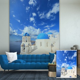 Blue Greece in Sunny Day Printing Blackout 3D Roller Shades