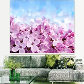 Beautiful Purple Lilac Printing 3D Roller Shades