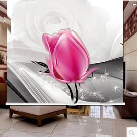 Designer Pink Tulip 3D Printed Roller Shades
