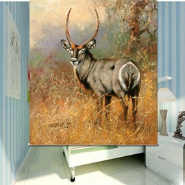 Oil Painting Antelope 3D Printed Roller Shades