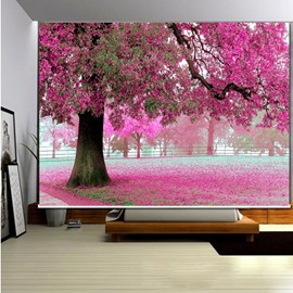 Romantic Pink Tree 3D Printed Roller Shades