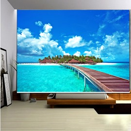 Beautiful Island on the Sea 3D Printed Roller Shades