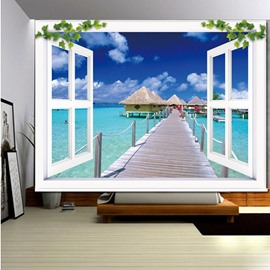 The Wooden Bridge over the Sea 3D Printed Roller Shades