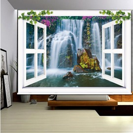 Waterfall Scenery outside the Window 3D Printed Roller Shades