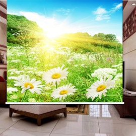 3D Daisies Trees and Bright Sunlight Printed Dust-proof Roller Shades