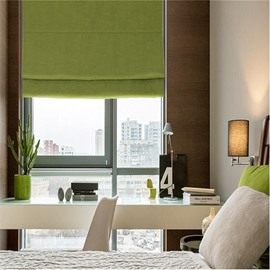 Modern and Fashion Light Green Kitchen or Bathroom Roman Shade