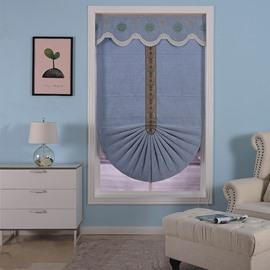 Creative and Modern Blue Color Concise European Window Curtain Roman Shade