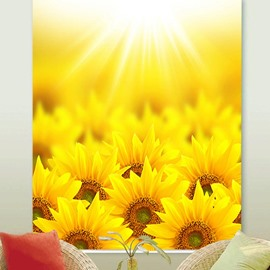 Sunflower Painted Heat Insulation and Blackout Decorative Custom Roller Shades