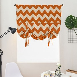 Thick Polyester Blackout and Waterproof Geometric Stripe Decorative Modern Roman Shades