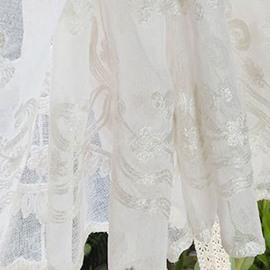 Elegant Linen Embroidered Decorative Roman Sheer Shades