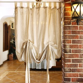 American Beige Roman Blinds Cotton Linen Curtain Blackout Lace Curtains Pull-up Curtain