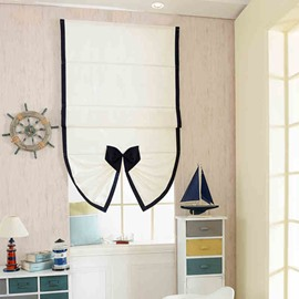 Designer Cute Mediterranean Style Bow Fan-Shaped Roman Shades