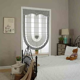 Concise Grey Stripes Voile Roman Shades