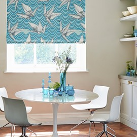 Paper Cranes Printing Cotton and Linen Blending Roman Shades