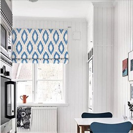 Modern and Fresh Style Geometry Patterns Printing Decorative Window Curtain Roman Shade