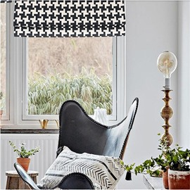 Classical Black and White Color Combination Printing Modern and Concise Style Roman Shade