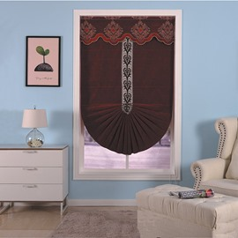 Delicate and Creative European Style Living Room Decorative Window Curtain Roman Shade