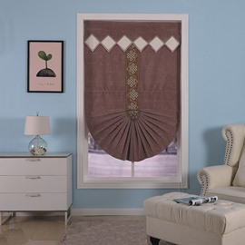 Modern and Concise Style Living Room and Study Room Creative Roman Shade Curtain