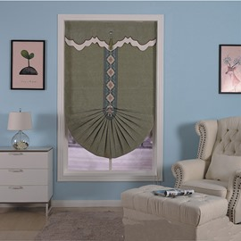 Concise and Modern High Quality Polyester Kitchen and Bath Room Window Curtain Roman Shade