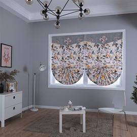 Beautiful Shading Cloth with Small Flowers Printing Living Room and Bathroom Roman Shade