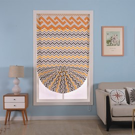 Wonderful Cotton Materials and Wave Patterns Living Room and Bathroom Window Roman Shade