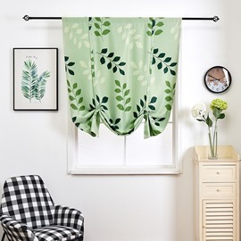 Green Leaves Simple Cartoon Pattern Shade Blackout