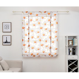 Orange Gerbera Floral Pattern Window Shade for Your Room