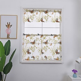 Butterfly and Tree Printed Shade Window Decor for Kitchen/Bathroom