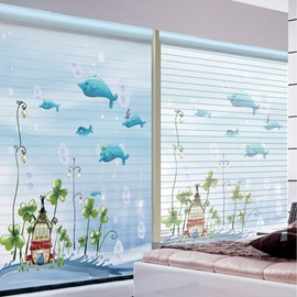 Wonderful Underwater World Printing Polyester Shangri-La Blind & Roller Shades