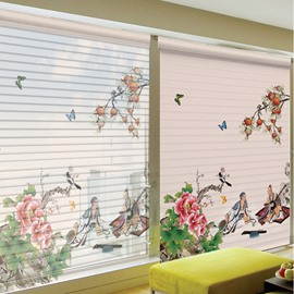 Chinese Confucius Talking with Friend Printing 3D Shangri-La Blinds & Roller Shades