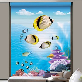 Cute Tropical Fish Printing Polyester Shangri-La Blind & Roller Shades