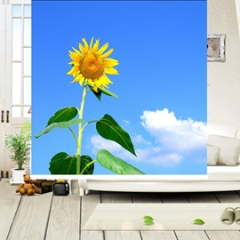 Golden Sunflowers Sunny Day Printing Blackout 3D Roller Shades