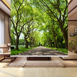 The Path with Tree Printing Blackout 3D Roller Shades