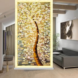 Oil Painting Flower Printing Blackout 3D Roller Shades