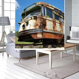 Rusty Locomotive Printing Blackout 3D Roller Shades