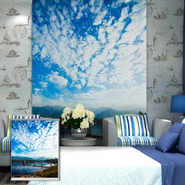 Oil Painting Blue Sky and White Winds Printing Blackout 3D Roller Shades