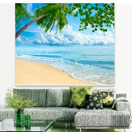 Pretty Beach and Waves Printing 3D Roller Shades