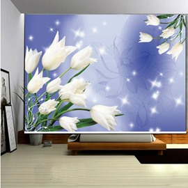 Dreamy White Flowers 3D Printed Roller Shades
