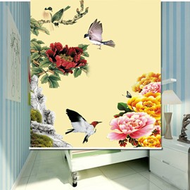 Birds Flying on the Flowers 3D Printed Roller Shades