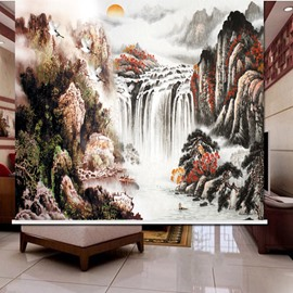 Chinese Painting Landscape Scenery 3D Printed Roller Shades