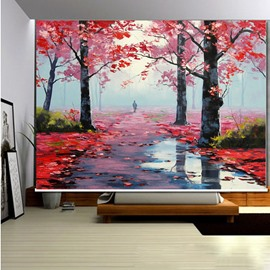 Graceful Path with Red Tree 3D Printed Roller Shades